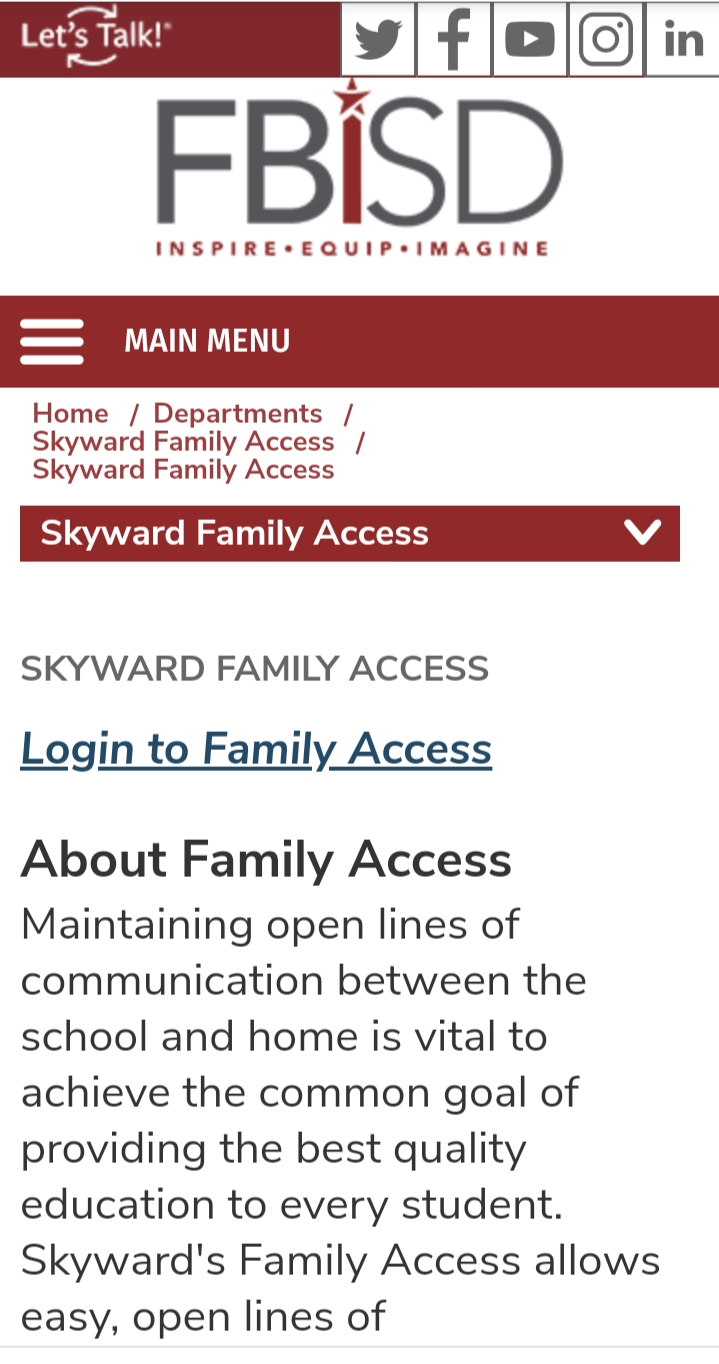 Skyward Fbisd Login
