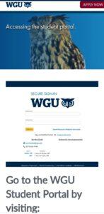 WGU student portal login - WGU login