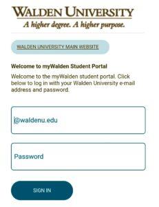 Walden University Student Portal Login