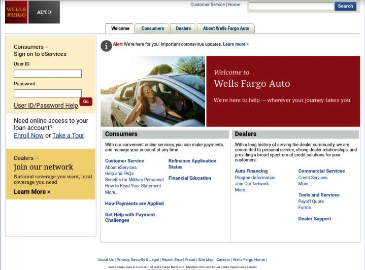 wells fargo bank login