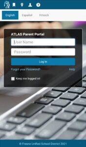 FUSD Atlas Parent Portal Login