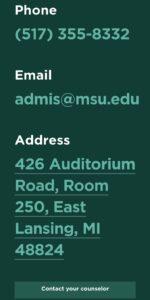 Michigan State University Address MSU Student Portal Login