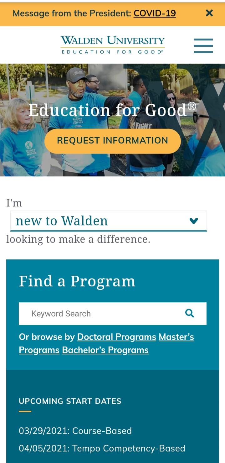 My Walden University Student Portal